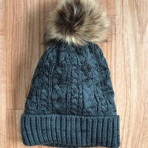 Accessories - Gray Pom Beanie